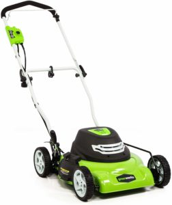 GREENWORKS 18 INCH 12AMP CORDED ELECTRIC LAWN MOWER