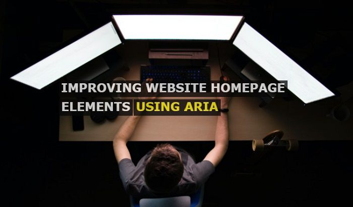Improving Website Homepage Elements and Navigation using ARIA