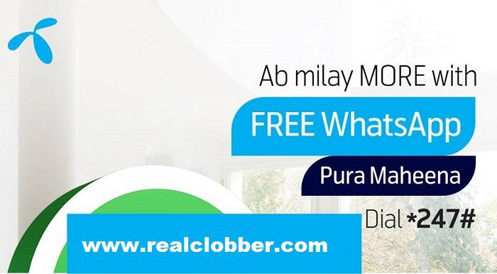 Telenor Monthly WhatsApp Package for Only Rs. 5 incl. Tax