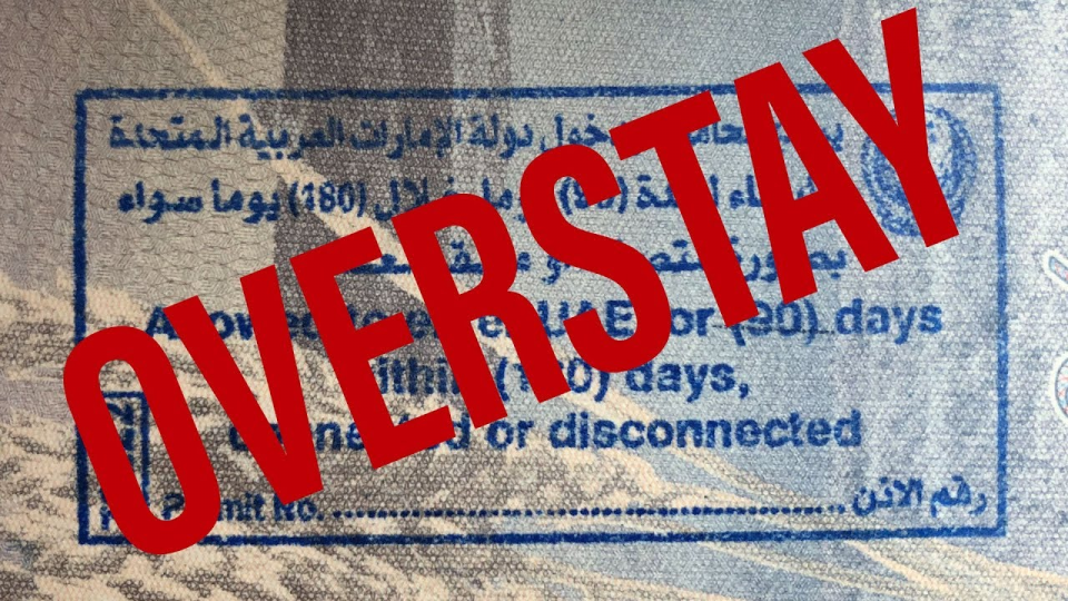 pay an overstay fine in Dubai